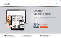 Шаблон: Smarty - Website + Admin + RTL