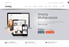 Plantilla: Smarty - Website + Admin + RTL